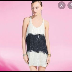 Parker black & white preorder sequin mini dress!